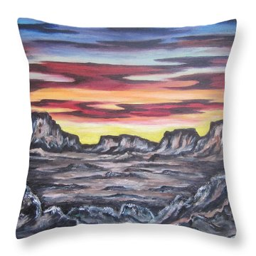 Throw Pillow featuring the photograph Edge Of The Desert by Cheryl Pettigrew