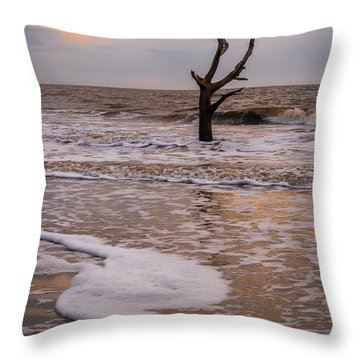 Edge Of The Tide Throw Pillow by Serge Skiba