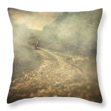 Edge Of The World Throw Pillow by Taylan Apukovska