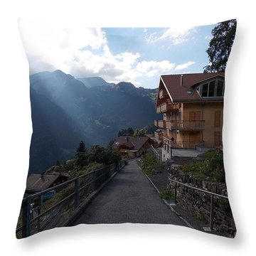 Edge Of Wengen Throw Pillow