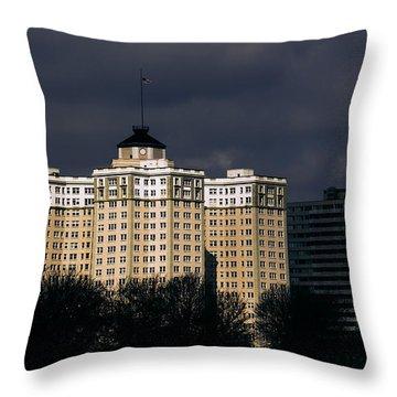 Edgewater Beach Apartments Throw Pillow by Kathleen Scanlan