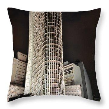 Edificio Italia By Night Throw Pillow