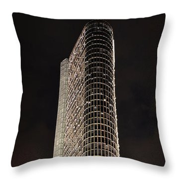 Edificio Italia By Night Throw Pillow