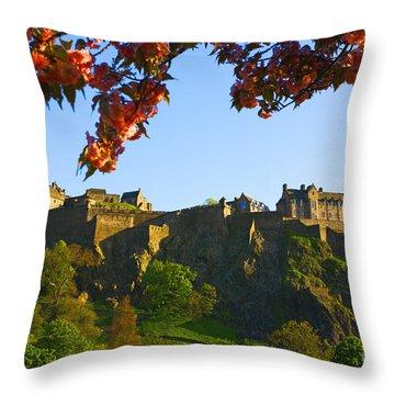 Edinburgh Castle  Throw Pillow by Craig B