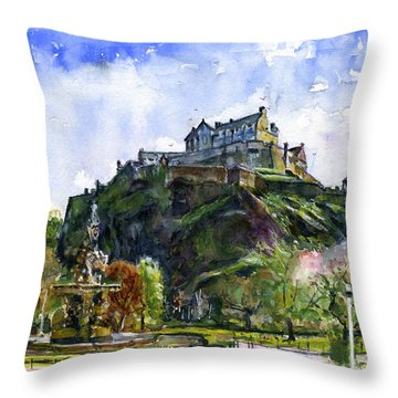 Edinburgh Castle Scotland Throw Pillow