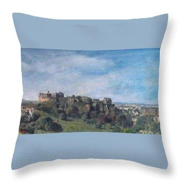 Edinburgh Castle Vista Throw Pillow by Richard James Digance