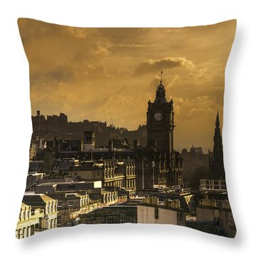 Edinburgh Dusk Throw Pillow
