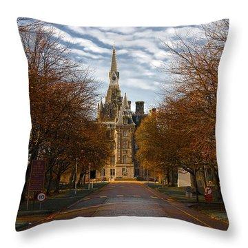 Edinburgh's Fettes College Throw Pillow