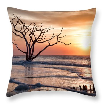 Edisto Sunrise Throw Pillow by Curtis Cabana