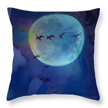 Edit To The Poem Oh Moon Throw Pillow