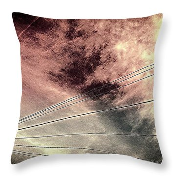 Dramatic Sky 3 Throw Pillow