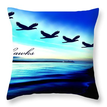 Edmonds Washington Waterfront Throw Pillow