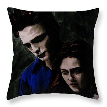 Edward And Bella Throw Pillow by Betta Artusi