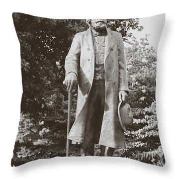 Edward Everett Horton Throw Pillow by Boris Mordukhayev