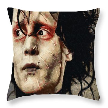 Edward Scissorhands  Throw Pillow by Joe Misrasi