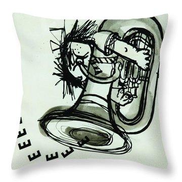 Eeeeeeek! Ink On Paper Throw Pillow