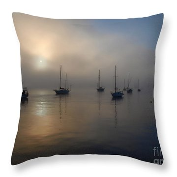 Eerie Sunrise Throw Pillow