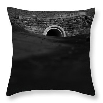 Eerie Tunnel Throw Pillow