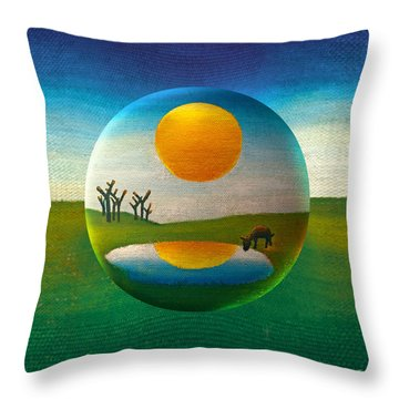 Throw Pillow featuring the painting Eeyorb  by Robin Moline