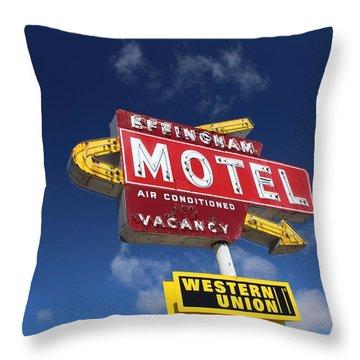 Effingham Motel Throw Pillow