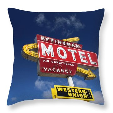 Effingham Motel Throw Pillow