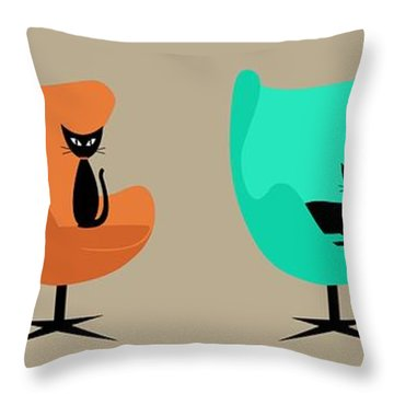 Egg Chairs Throw Pillow