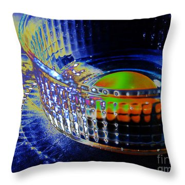 Eggadelic Throw Pillow by Jim Rossol