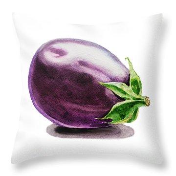 Eggplant  Throw Pillow by Irina Sztukowski