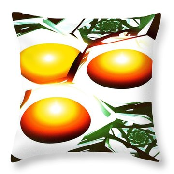 Eggs For Breakfast Throw Pillow