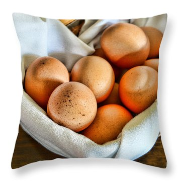 Eggs In A Basket Throw Pillow by Paul Ward
