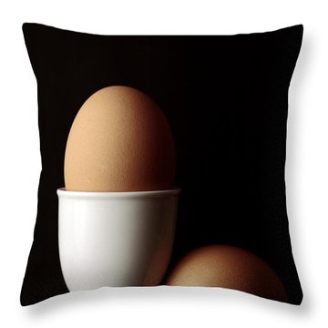 Eggs In Egg Cup Throw Pillow