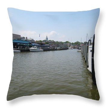 Throw Pillow featuring the photograph Ego Alley by Charles Kraus