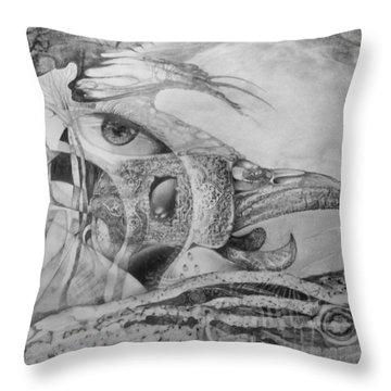 Ego-bird-fish Nesting Ground Throw Pillow by Otto Rapp