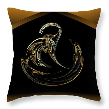 Egyptian Asp Throw Pillow by John Pangia