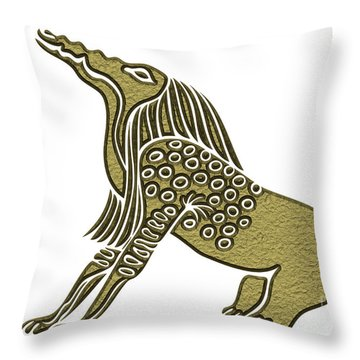 Egyptian Demon - Bone Eater Throw Pillow