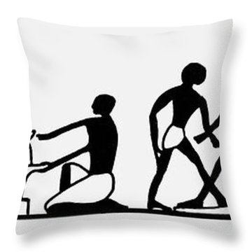 Egyptian Potters Throw Pillow