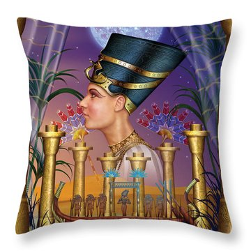 Egyptian Triptych Variant IIi Throw Pillow by Ciro Marchetti
