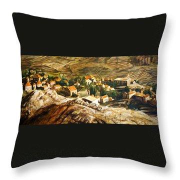 Ehden Lebanon Throw Pillow by Lyndsey Hatchwell