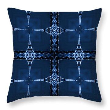 Eiffel Art 28a Throw Pillow