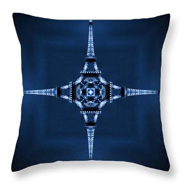 Eiffel Art 35 Throw Pillow