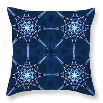 Eiffel Art 6 Throw Pillow by Mike McGlothlen