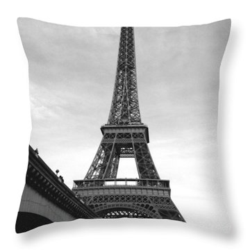 Eiffel Classic Throw Pillow