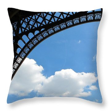Eiffel Clouds Throw Pillow
