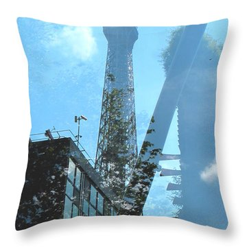 Eiffel Collage Throw Pillow