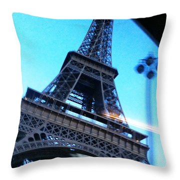 Eiffel In Motion Throw Pillow