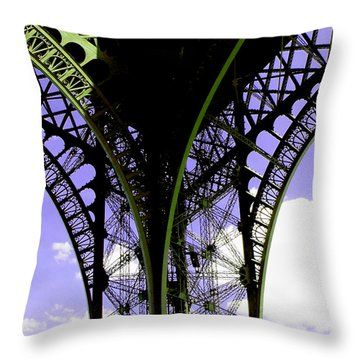 Eiffel Lace Throw Pillow