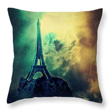 Eiffel Lighthouse Throw Pillow