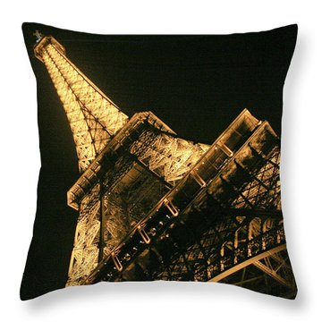 Eiffel Throw Pillow by Silvia Bruno
