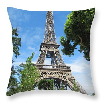 Throw Pillow featuring the photograph Eiffel Tower - 1 by Pema Hou