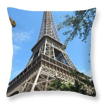 Throw Pillow featuring the photograph Eiffel Tower - 2 by Pema Hou